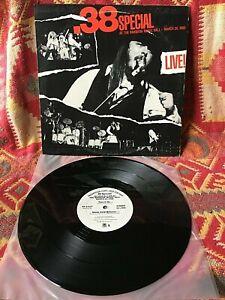 38 SPECIAL VINYL at the rainbow LP '80 PROMO White Label MASTERDISK rockin into