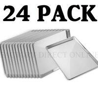 "24 PACK Full Size Aluminum 18"" x 26"" Bun Sheet Baking Pan Wire in Rim Commercial"