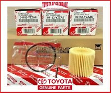 TOYOTA COROLLA PRIUS SCION IM XD OIL FILTER SET OF (3) GENUINE OEM 04152-YZZA6