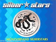 Australien Lunar II Schlange 2013  Snake 2 Unze / Oz Silber SOFORT LIEFERBAR