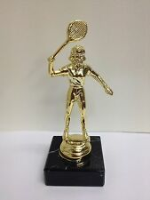 New Marble Based FEMALE TENNIS Trophy FREE ENGRAVING