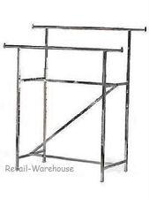 Clothing Rack Double Rail Bar Retail Clothes Salesman Garmet 300 Lbs