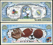 It'S A Boy Million Dollar Novelty Bill -Lot of 10 Bills