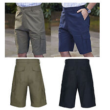 Men's Champion 100% Cotton Risby Cargo Summer Shorts Water Repellent 7 x Pockets