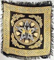 "Pentagram Goddess Altar Cloth / Tarot Cloth 18"" x 18"" (NEW, Wicca Pagan)"
