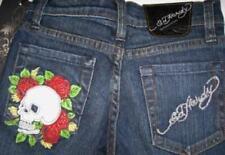 Ed Hardy Girls Rhinestone Roses/Skull Jeans (7) NWT
