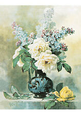 Lilacs & Roses by Paul de Longpre (Art Print of Vintage Art)
