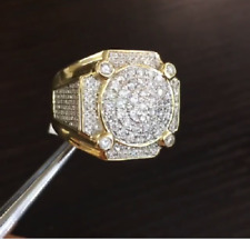 New Mens Yellow Gold Finish Vvs1 Diamond Band Pinky Fashion Ring 1.50 Carat