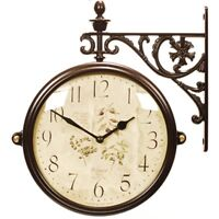 antique vintage double sided wall clock home decor station clock gift m195brf6a