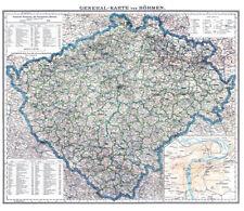 Generalkarte von Böhmen 1880- Historische Karte (Reprint)