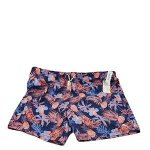 "Tommy Bahama Naples Midnight Coral Ocean Deep 6"" Swim Trunks Shorts Size 5XLB"