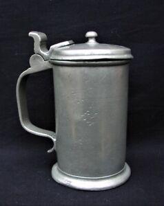 Rarer kleiner Zinnkrug Westerstede Johann Dietrich Siefken  19. Jahrhundert