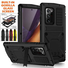 ✅Screen Glass + Alloy Metal Shockproof Case Cover Stand For Samsung S20 Note 20