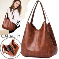 Women Leather Shoulder Bag Large Lady Messenger Shopping Handbag Tote Purse