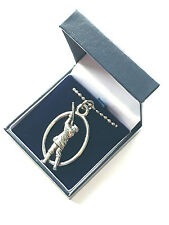 Gamekeeper Pendant Handcrafted from Solid Pewter In The UK + Blue Gift Box