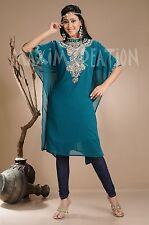 ELEGANT Moroccan Kaftan Dress Abaya Jilbab Islamic Kheleeji jalabiy Arabian 3872