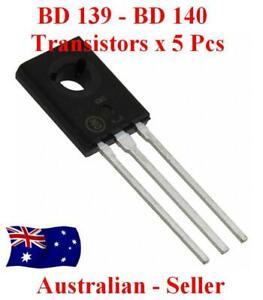 BD139 or BD140 NPN - PNP Transistors  x 5PCS