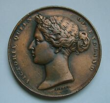 Victoria Queen of England, Universal Exhibition of London 1862 Medal by A. Bovy