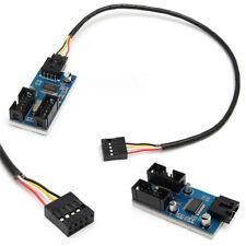 Placa Base USB 9p 9 pines Cabezal Separador 1A 2 extensión puerto de cable