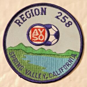 1980 AYSO Embroidered Soccer Patch Region 258 Spring Valley California USA