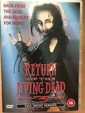 RETORNO DE LA THE LIVING DEAD Parte III / 3 ~1993 Culto Horror Zombie Secuela GB