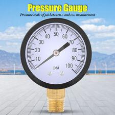 1Pcs New 0-100PSI 1/4 BSPT Pressure Gauge Manometer Water Pressure Meter GL