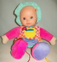 Teach Me To Dress My First Baby Doll Plush Soft Squeaky Feet Crinkle Arms Lovey