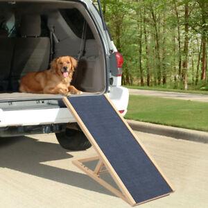 Folding Pet Ramp Non-Slip Dog Travel Car Bed Adjustable Height 30 40 50 60cm