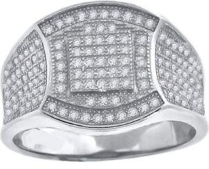 14K White Gold Finish 3.00 Carat Round Cut Diamond Designer Fashion Pinky Ring