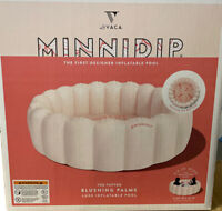 MINNIDIP The Tufted BLUSHING PALMS LUXE INFLATABLE DESIGNER POOL SHIPS FAST
