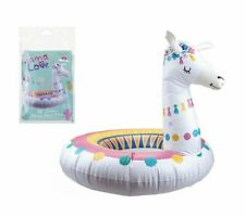 "GIANT INFLATABLE LLAMA 36"" SWIMMING RING Water Float Raft Pool Kids Fun Beach UK"