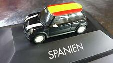 * Herpa 101486 Limited Edition Mini Cooper S Spain Roof Flag PC Box 1:87 HO