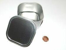 8-oz Square Slip On Lid Survival Metal Tin Can Container Box Kit Use With Crafts