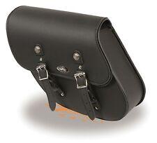 "Left Side PVC Swing Arm Bag w/ Interior Gun Pocket for Harley's 12"" x 11"" x 4"""