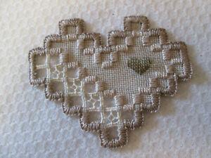Hardanger Heart   Norwegian Embroidery tans
