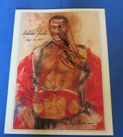 PERNELL WHITAKER & GARY JACOBS SIGNED PROGRAM 1995 ~ Boxing AUTOGRAPHS