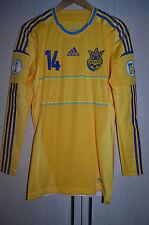 UKRAINE 2012 PLAYER ISSUE FOOTBALL SHIRT JERSEY ADIDAS TECHFIT LONG SLEEVE ROTAN