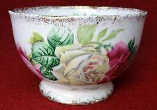 "ROSLYN England china MELODY ROSE pattern #8624 Open Sugar Bowl - 2-1/4"""