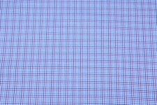 Polycotton tartan checks fabric, apparel fabric, '44', shirts, suit fabric blue