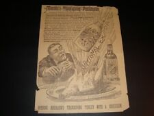 Circa 1891 Moerelin Old jug Lager Crock Bottle Newspaper Ad, Cincinnati, Ohio