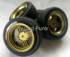 RC Car 1/10 EP 26mm 3mm OFFSET Wheel Rim RUBBER Tyre Tire AMERICAN CLASSIC GOLD