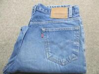"""MENS LEVI 550 36""""W 32""""L RELAXED TAPERED JEANS / REF A1622"""