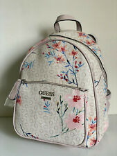 NEW! GUESS PANDORE COLLECTION CEMENT FLORAL TRAVEL BACKPACK BAG PURSE SALE