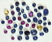 Blue Sapphire and Pink Sapphire Natural Genuine Cabochon Gemstone GSG,82
