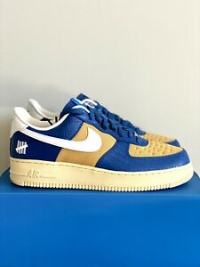 NEW Nike Air Force 1 Low SP Undefeated 5 Blue Yellow Croc Men DM8462-400 Sz 9.5