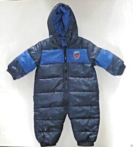 Baby Boy's Puffa Snowsuit- Blue- Age 6-12 months- NEW