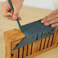 3DWinkel Messlineal Scriber Quadrat Messwerkzeug Messgerät Holzbearbeitung w/Pen