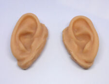 Unpainted Severed Silicone Ear Prop - Plain Realistic Halloween FX Movie Prop
