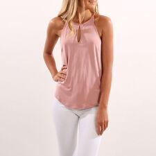 moderno mujer verano camisetas sin mangas Camisa Blusa Informal de tirantes