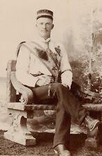 Loyal True Blue Lodge Orange Order Masonic ? Man, Vintage Photo Peterborough ON